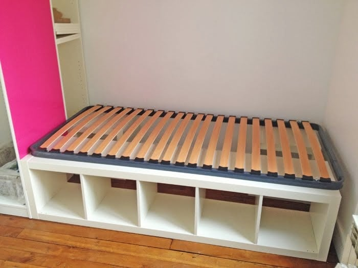 How To Make A Platform Bed With Shelves