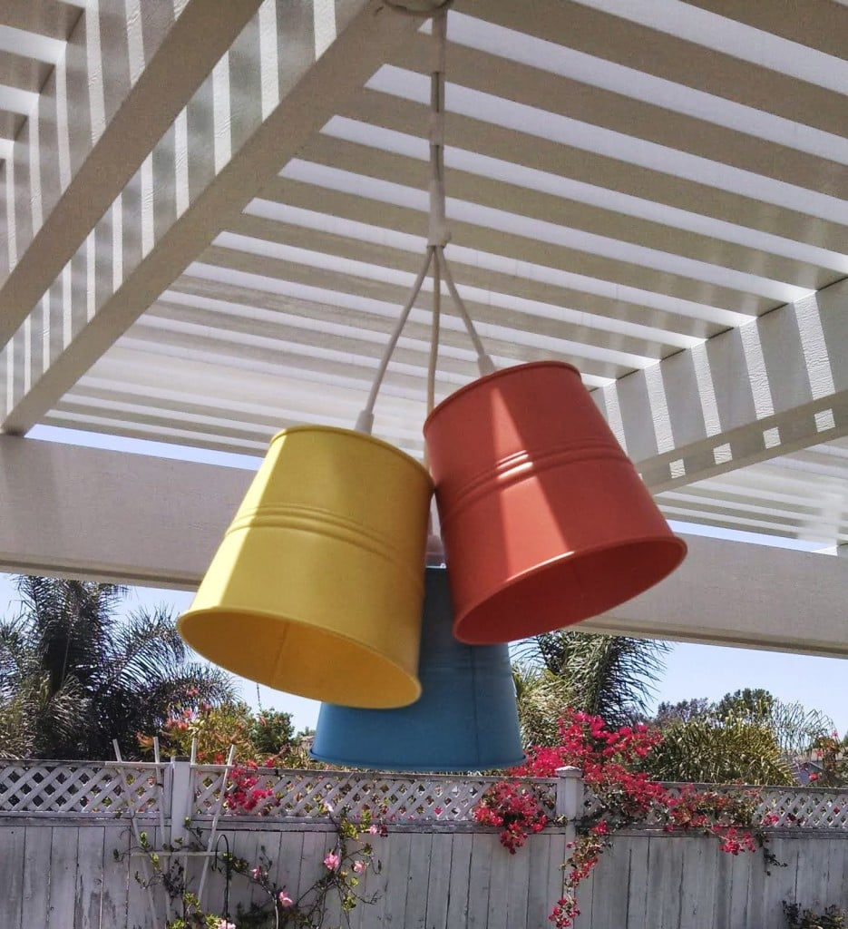 patio lights from plant pot ikea hackers. Black Bedroom Furniture Sets. Home Design Ideas