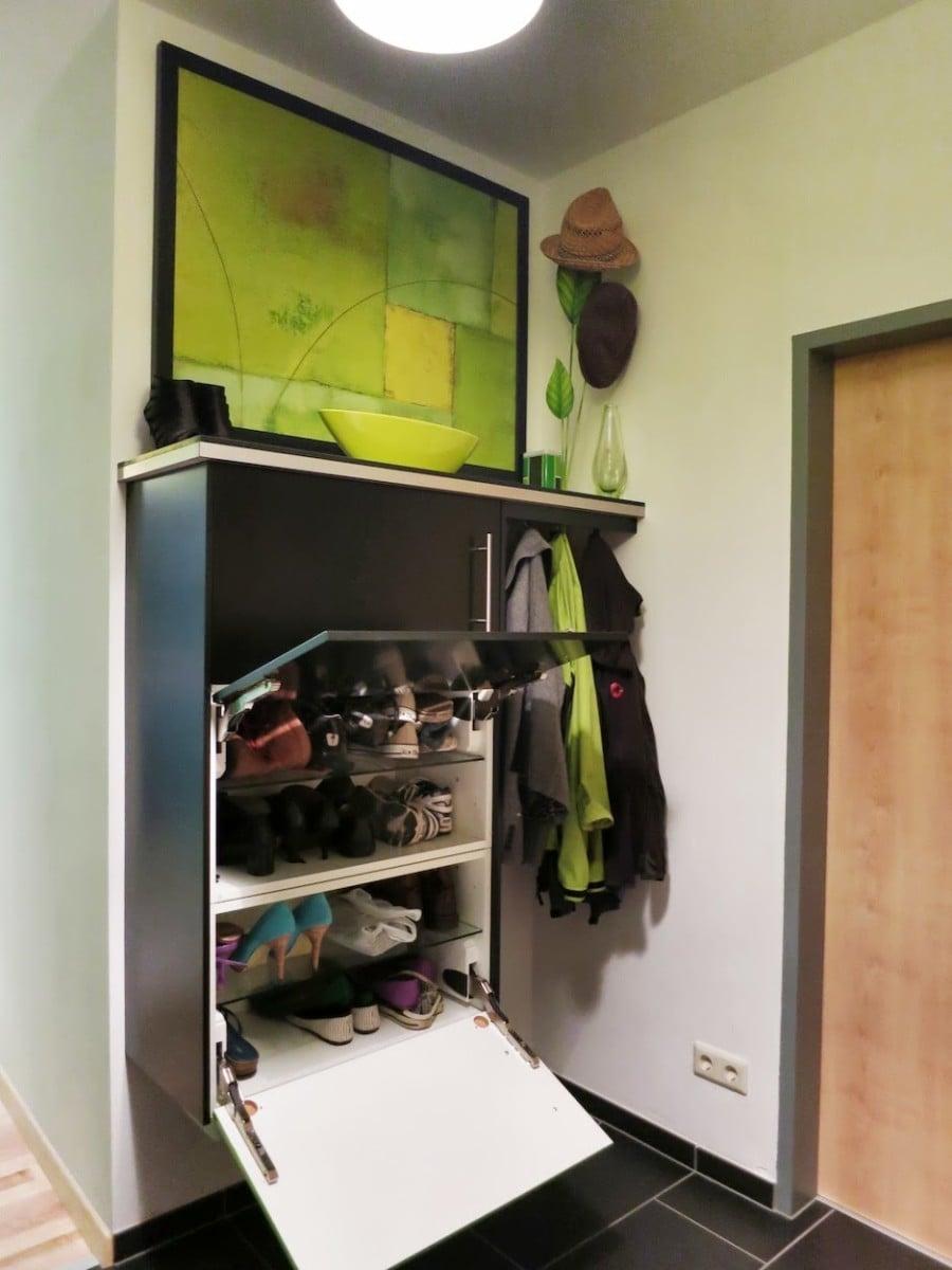 Turning Kitchen Cabinets Into Fabulous Entryway Shoe Storage