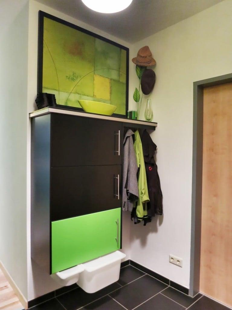 DIY shoe storage from kitchen cabinets