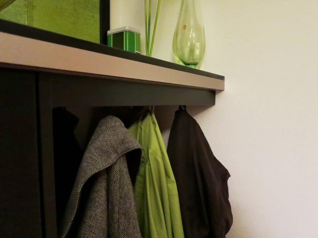 DIY shoe storage from kitchen cabinets