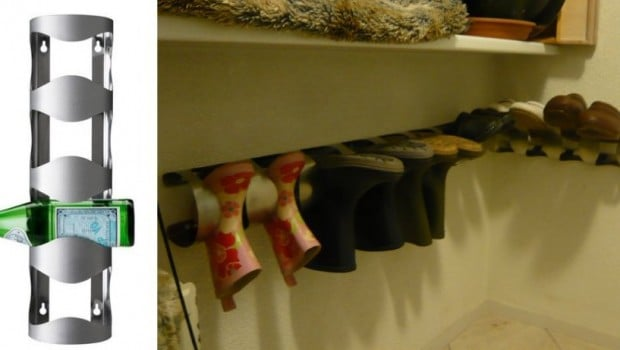 Boots and clogs storage ikea hackers ikea hackers - Ideas para colgar trapos de cocina ...