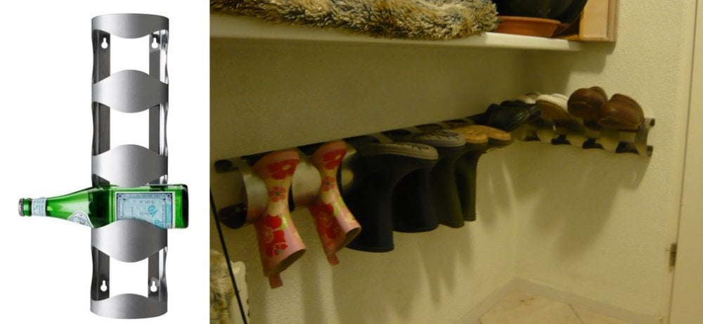 boots and clog storage vurm wine rack