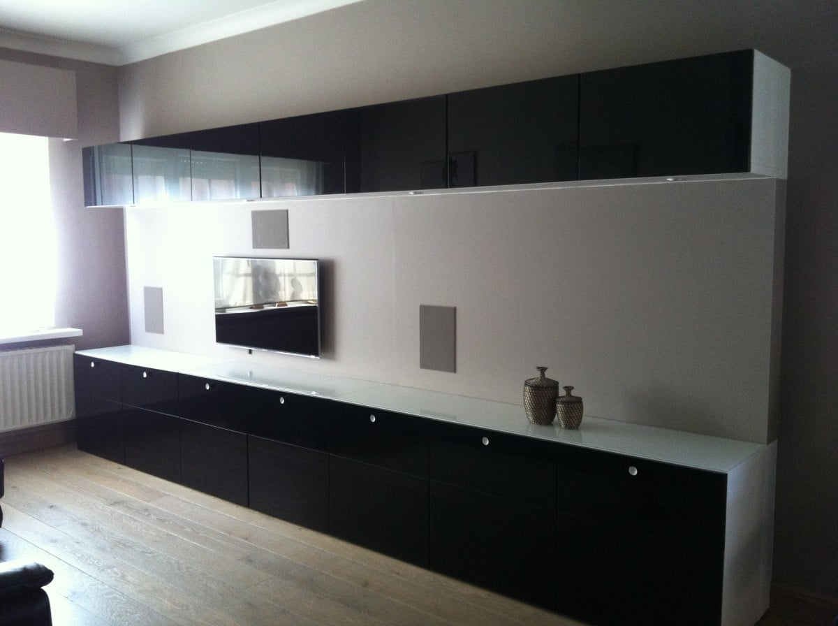 Black Cabinets Kitchen Besta Depth Adapted With Updates On Ventilation Ikea