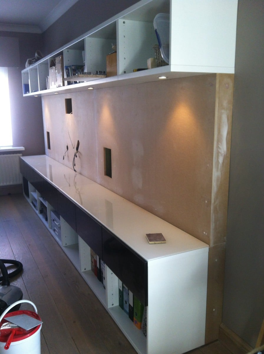 Besta Depth Adapted With Updates On Ventilation Ikea Hackers Hack Home Wiring Cabinet You Can Now Clearly See That The Lower Cabinets Are Moved Forward And Mdf Covers Gap