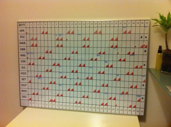 Ikea Wall Planner from picture frame