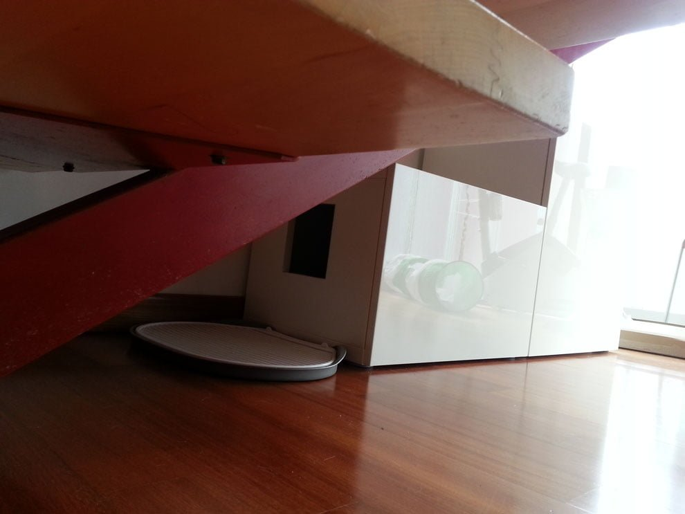 Ikea Living Room >> Another Besta cat litter under the stairs - IKEA Hackers ...