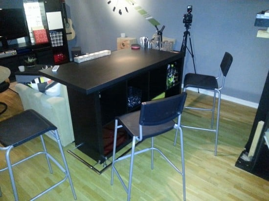 expedit bar table ikea hackers ikea hackers. Black Bedroom Furniture Sets. Home Design Ideas