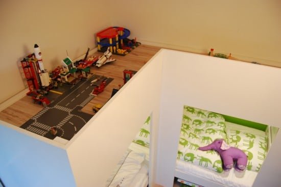 IKEA MYDAL kids loft bed with play area