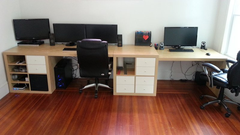 wall to wall desk for about 300 ikea hackers. Black Bedroom Furniture Sets. Home Design Ideas