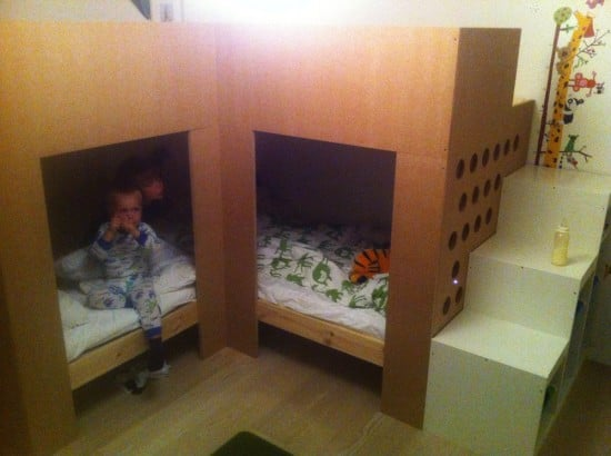 IKEA MYDAL kids loft bed with play areaa
