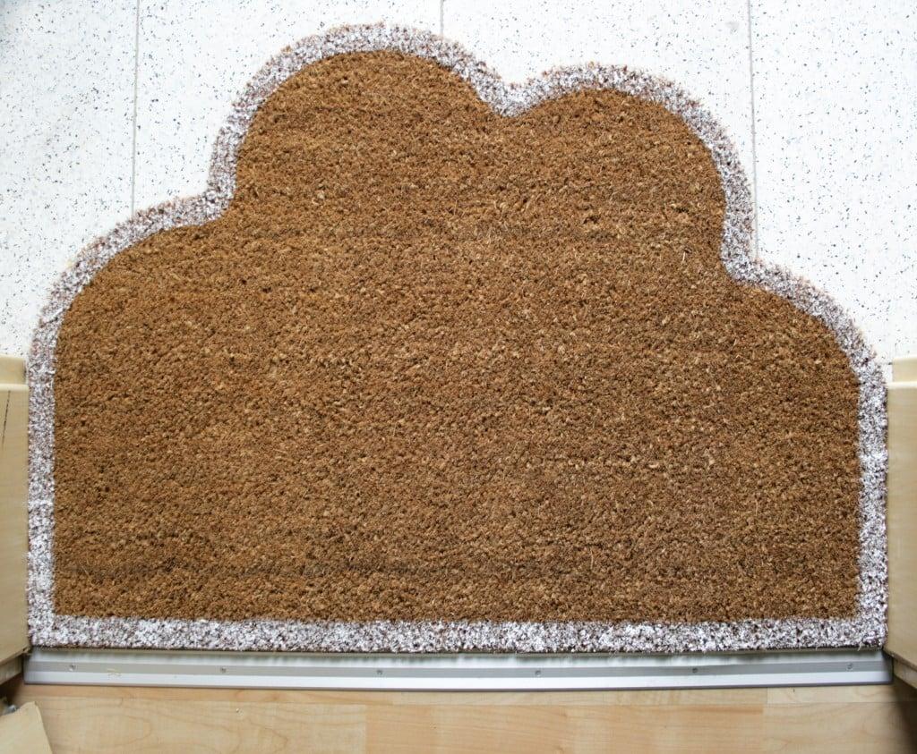 IKEA doormat - cloud design