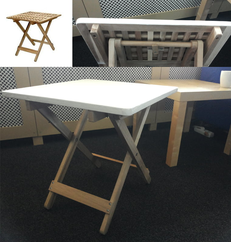 Skoghall Side Table without the holes - IKEA ers on