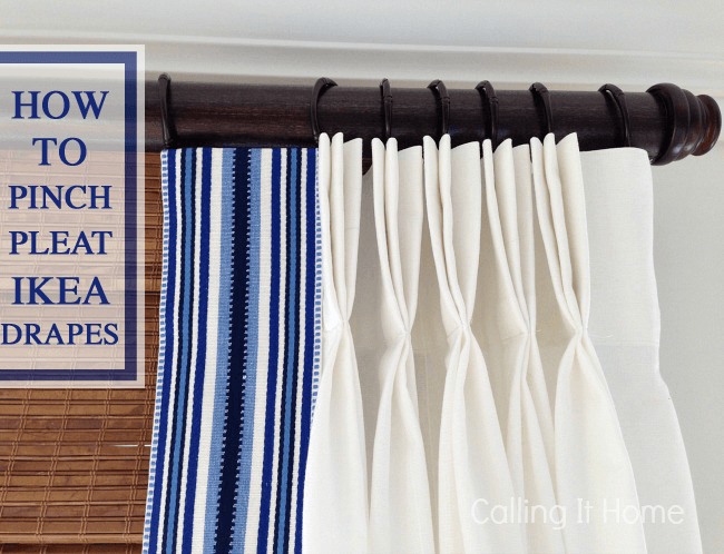 How To Pinch Pleat Ikea Curtains Ikea Hackers