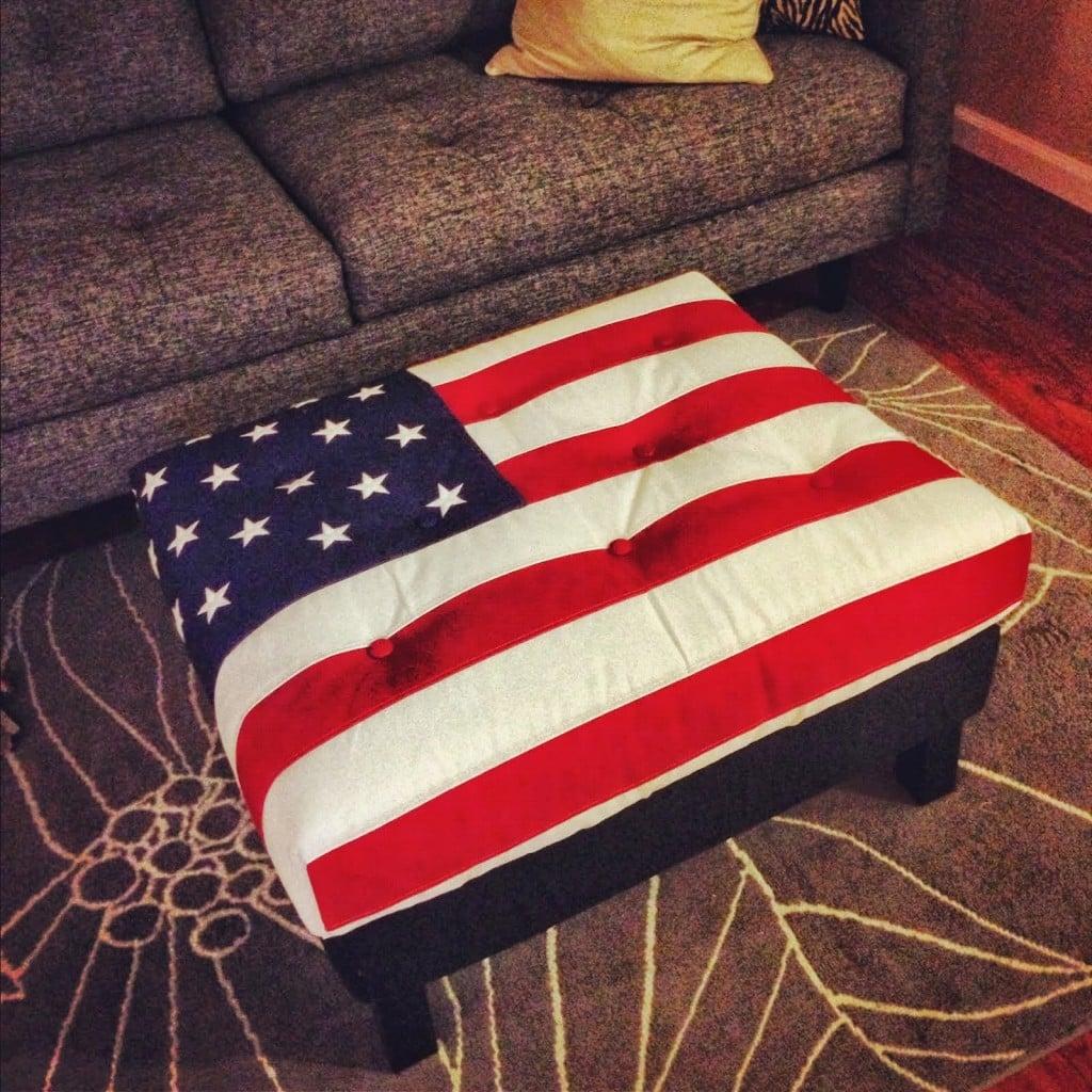American Flag Karlstad Ottoman Ikea Hackers Ikea Hackers