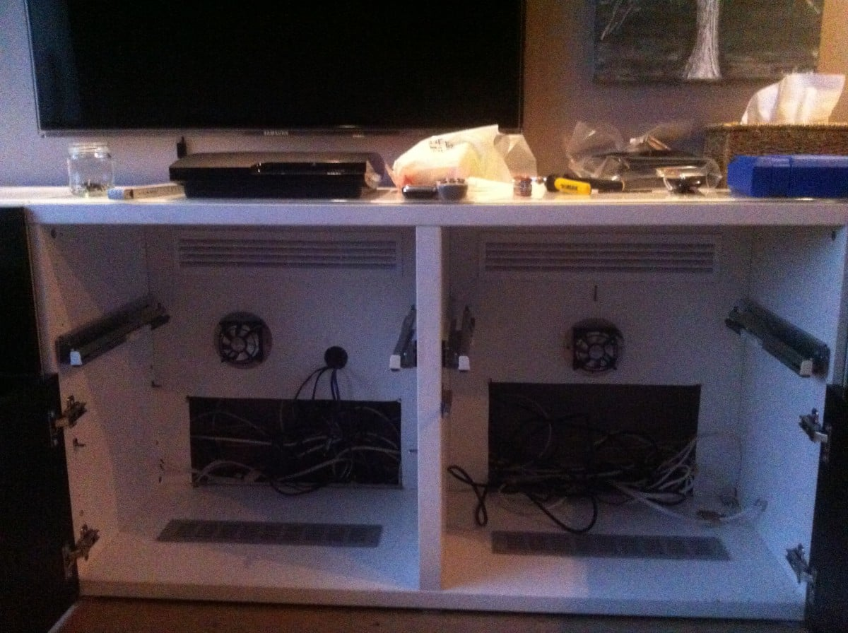 Home Theater Cabinet Fan Besta Depth Adapted With Updates On Ventilation Ikea Hackers