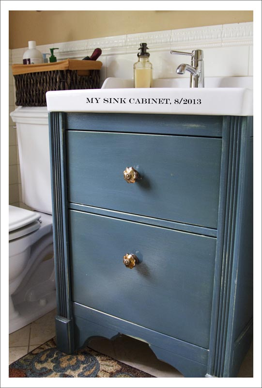 Sink cabinet change style ikea hackers ikea hackers for Ikea vanities with sinks