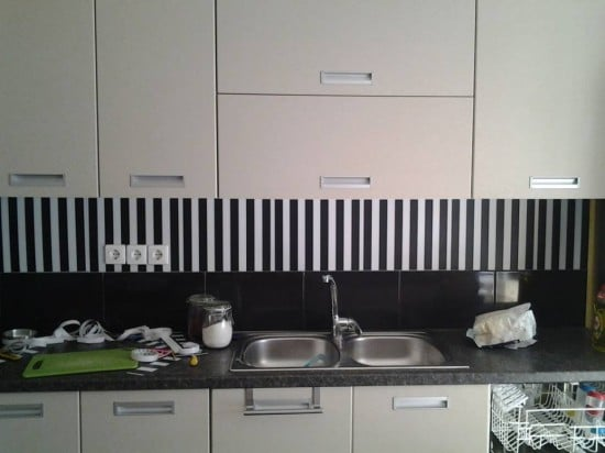 Placemat backsplash