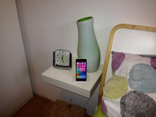 LACK bedside table iPhone charging station