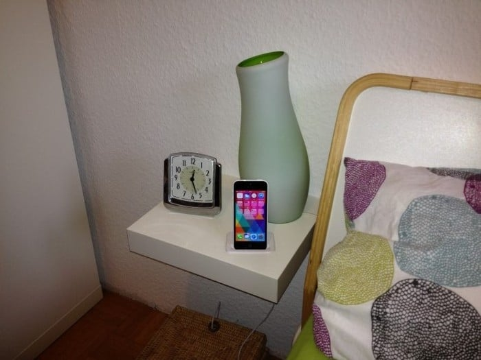 lack charging dock shelf for iphone ikea hackers ikea. Black Bedroom Furniture Sets. Home Design Ideas