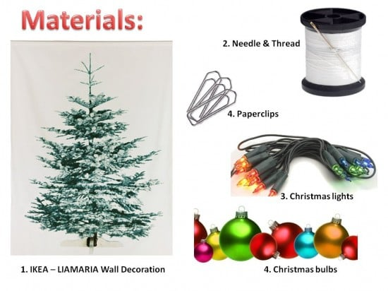 Space Saving Christmas Tree Ikea Hackers