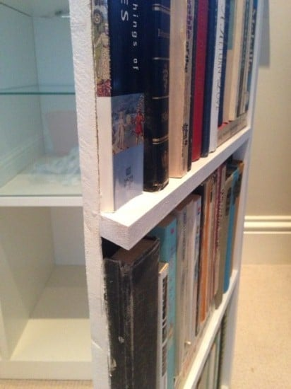 Fake bookcase hides secret cabinet - IKEA Hackers