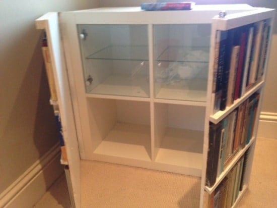 Fake bookcase hides secret cabinet - IKEA Hackers - IKEA Hackers
