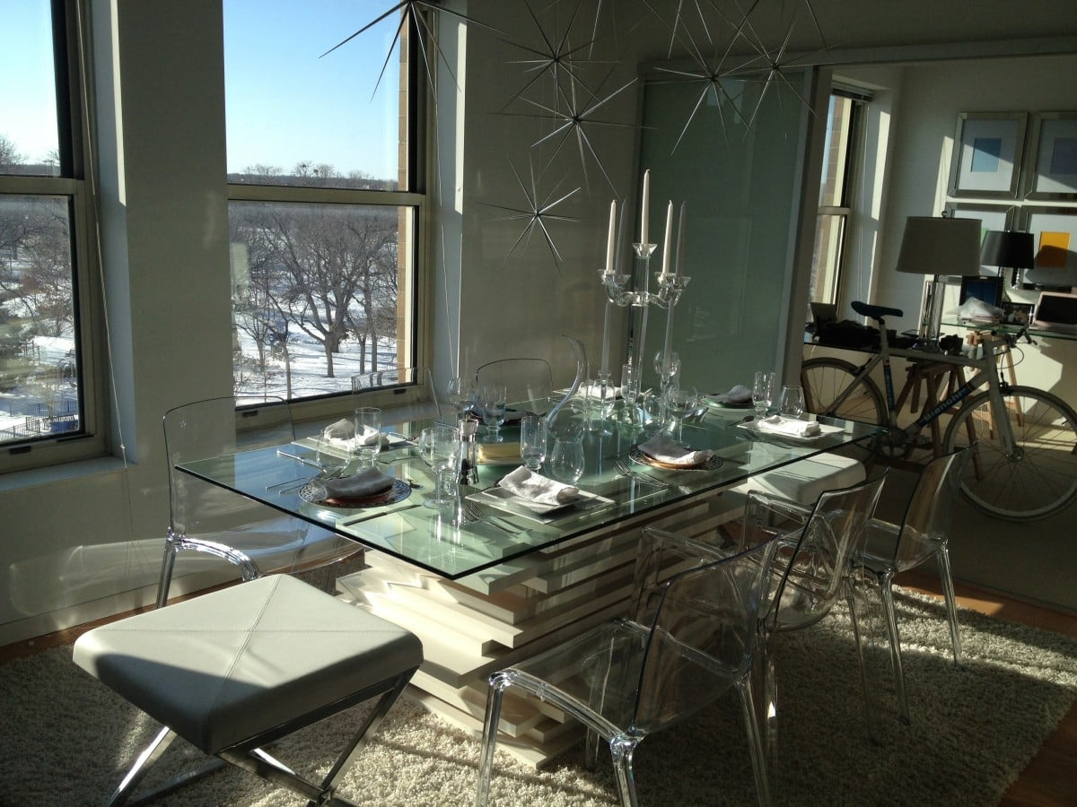 Stacked LINNMON (x22) Dining Table W/ Glass Top - IKEA Hackers