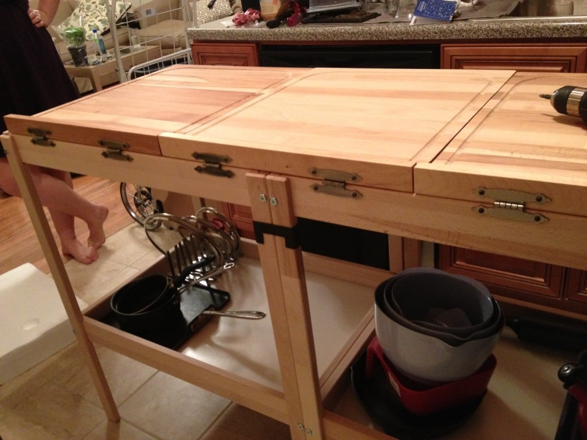 Baby Changing Tables turned Kitchen Counter IKEA Hackers