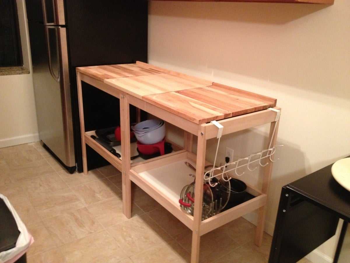 Kitchen Island With Table At End