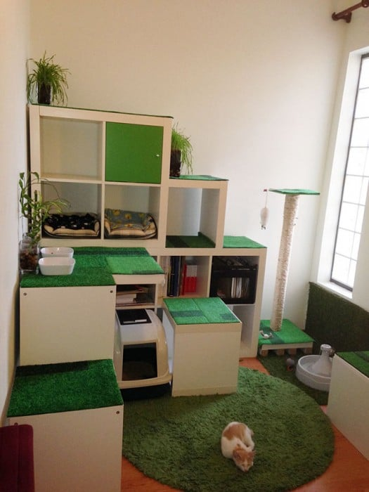 DIY Cat Apartment, Storage and Play Area - IKEA Hackers