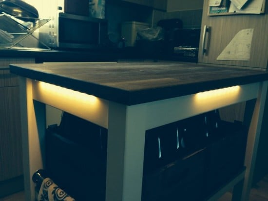 ikea butchers block undercounter lighting ikea hackers ikea hackers. Black Bedroom Furniture Sets. Home Design Ideas