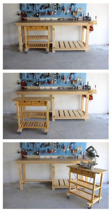 Ikea Kitchen Island as a Mobile Workshop Bench - IKEA Hackers