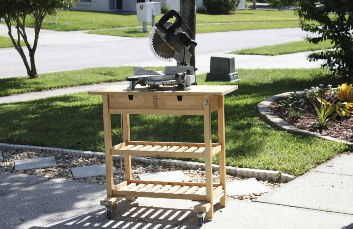 Ikea Kitchen Island As A Mobile Workshop Bench