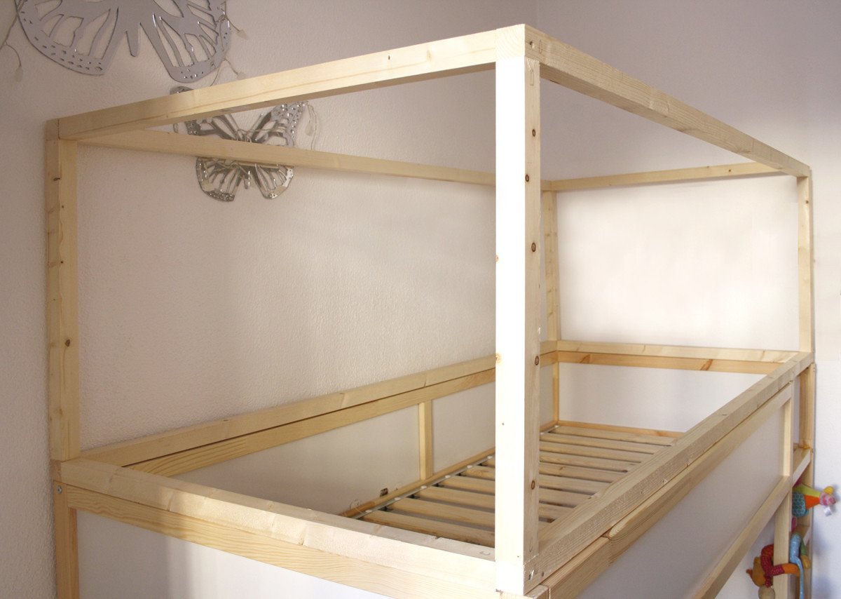 Diy Wood House With Kura Beds Ikea Hackers Ikea Hackers
