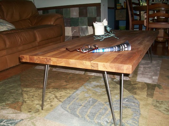 Butcher Block Coffee Table And End Table Ikea Hackers