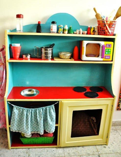 Ikea Cupboard Turned Children Play Kitchen Ikea Hackers