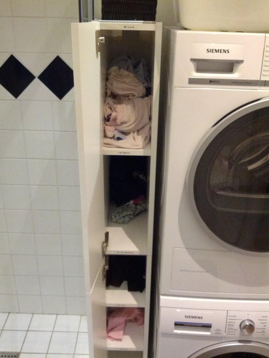 Metod laundry cupboard   IKEA Hackers