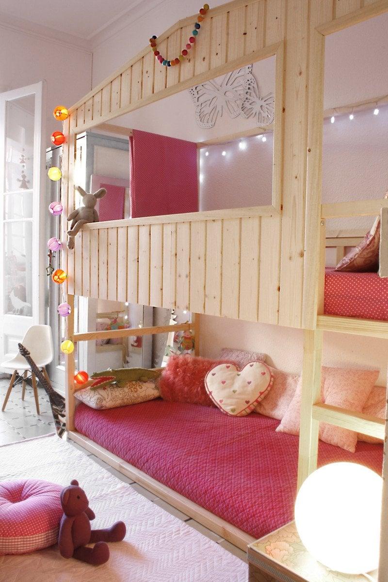 Diy Wood House With Kura Beds Ikea Hackers