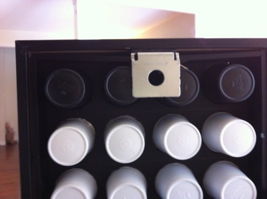 wall mounted K-cup holder - the back