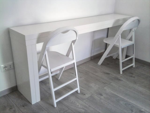 Double It Malm Console Becomes A 10 People Table Ikea