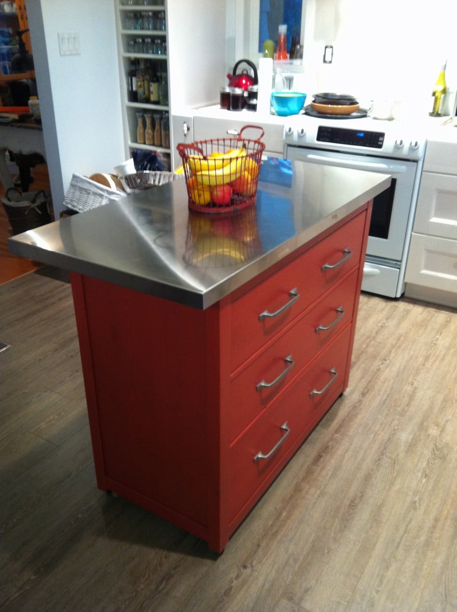 ikea islands kitchen kitchen island with drawers an ikea hemnes hack ikea hackers 9140