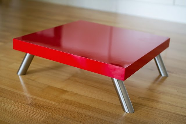 Reinforced Red Lack Platform Stool Table Ikea Hackers
