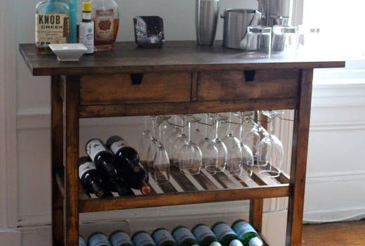 Ikea Hacker Bar Cart 2