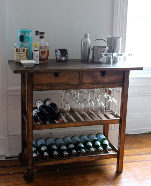 ikea bar cart hack - Ikea Bar Table Hack