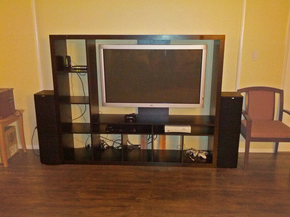 Ikea Entertainment Credenza : Tv storage unit with integrated reinforced television mount ikea