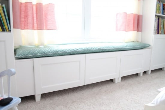 besta window seat for little girl room ikea hackers ikea hackers