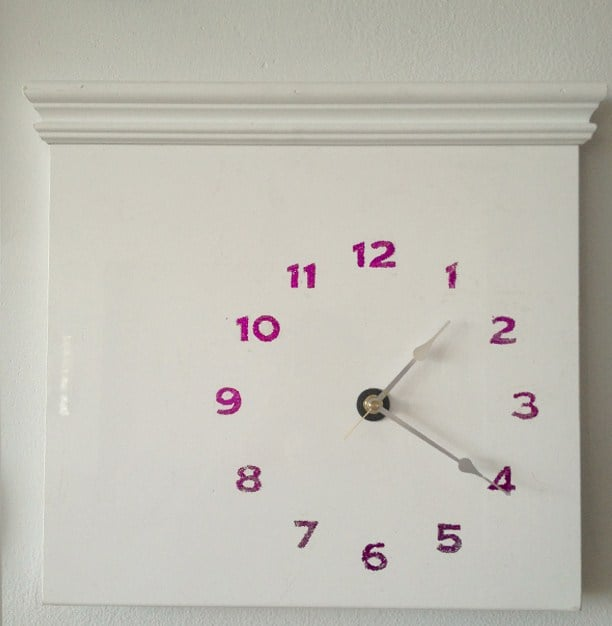 Kitchen Cabinet Door becomes a Glittery Clock & Kitchen Cabinet Door becomes a Glittery Clock - IKEA Hackers