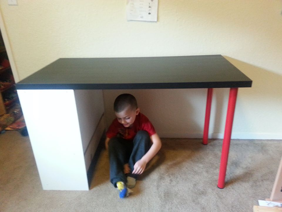 kids 3 drawer desk craft table ikea hackers ikea hackers. Black Bedroom Furniture Sets. Home Design Ideas
