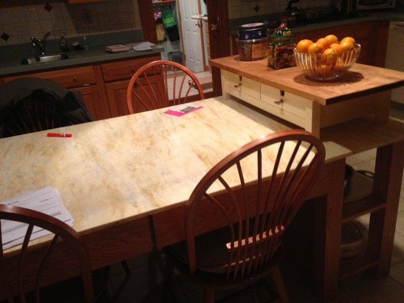 Table Top Kitchen Island Ikea Hackers
